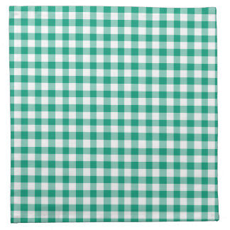 Emerald Green and White Gingham Napkin