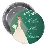 Emerald Green Bride MOG Bridal Party  Button