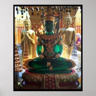 Emerald Green Buddha Doi Suthep Poster