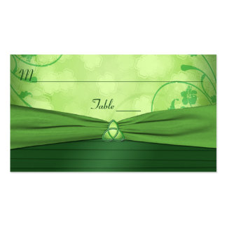 Emerald Green Celtic Love Knot Place Card Business Card Templates