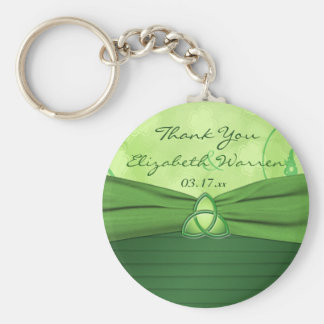 Emerald Green Celtic Love Knot Wedding Favor Key Ring