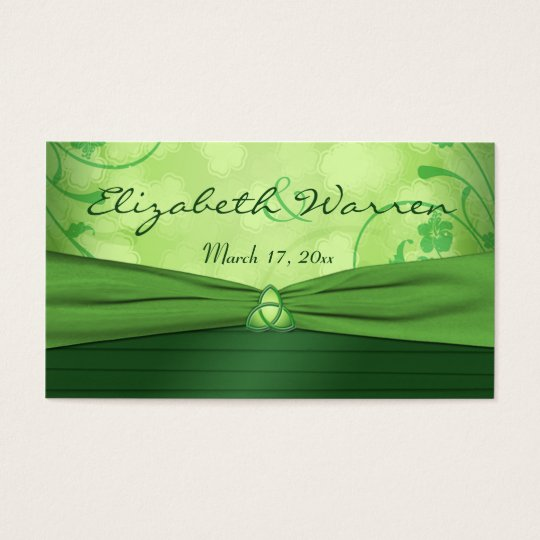Emerald Green Celtic Love Knot Wedding Favour Tag