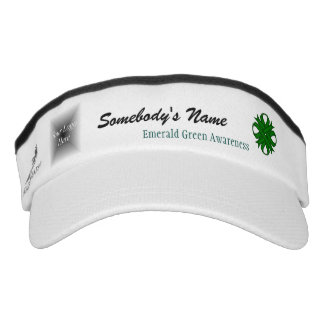 Emerald Green Clover Ribbon Template Visor