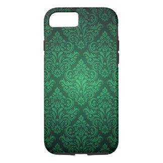 Emerald Green damask pattern iPhone 7 case