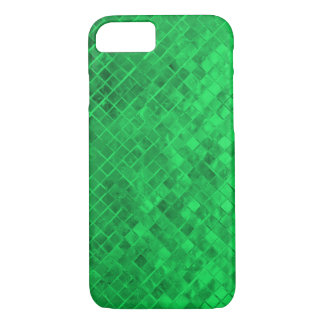 emerald green diamond metallic tile iPhone 8/7 case