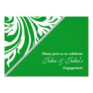 Emerald green engagement anniversary CUSTOM Card