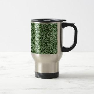 Emerald Green Faux Glitter Travel Mug