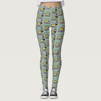Emerald Green Figaro Car Convoy Traffic Leggings