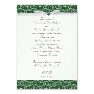 Emerald Green Florentine Wedding Invitation