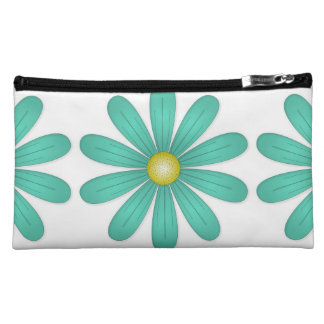 Emerald Green Flower Cosmetic Bag