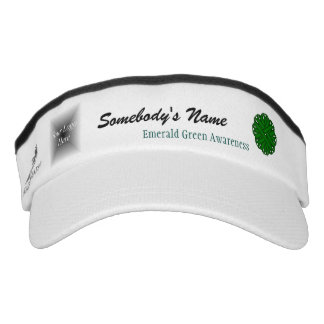 Emerald Green Flower Ribbon Template Visor