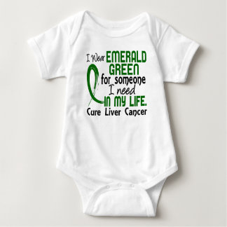 Emerald Green For Someone I Need Liver Cancer Baby Bodysuit