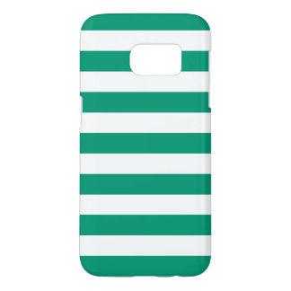 Emerald Green Galaxy S7 Cases - Nautical Stripe