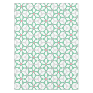 Emerald Green Geometric Pattern Tablecloth