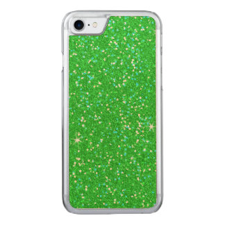 Emerald Green Glitter Effect Sparkle Carved iPhone 8/7 Case