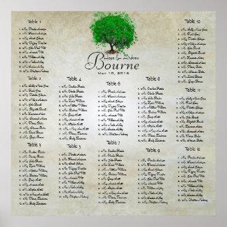 Emerald Green Heart Leaf Tree Seating Chart