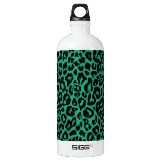 Emerald Green Leopard Pattern Home Decor SIGG Traveller 1.0L Water Bottle