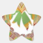 Emerald Green LITTLE Hearts Wreath Star Stickers