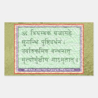 Emerald Green - Maha Mritunjaya Mantra Rectangular Sticker