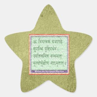 Emerald Green - Maha Mritunjaya Mantra Star Sticker