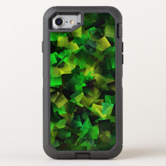 Emerald Green Modern Cubist Abstract OtterBox Defender iPhone 7 Case