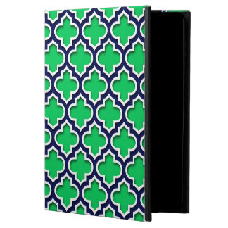 Emerald Green Navy White Moroccan Quatrefoil #5DS Powis iPad Air 2 Case