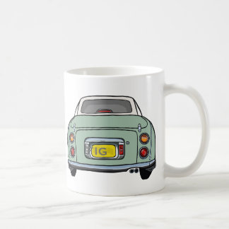 Emerald Green Nissan Figaro Car Mug with Initials