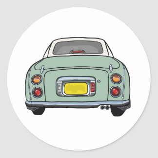 Emerald Green Nissan Figaro Car Sticker