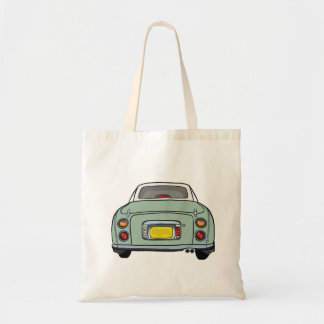 Emerald Green Nissan Figaro Car Tote Bag