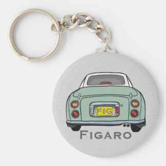Emerald Green Nissan Figaro Custom Keyring