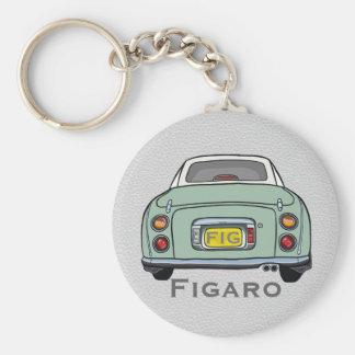 Emerald Green Nissan Figaro Custom Keyring Basic Round Button Key Ring