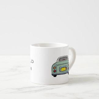 Emerald Green Nissan Figaro customised cup Espresso Mug