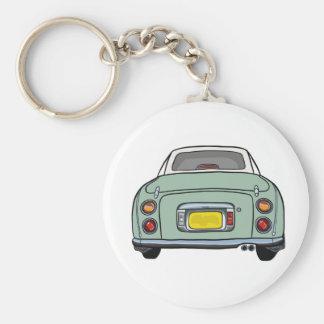 Emerald Green Nissan Figaro Keyring Basic Round Button Key Ring