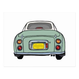 Emerald Green Nissan Figaro Postcard