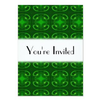 Emerald Green Pattern. Card