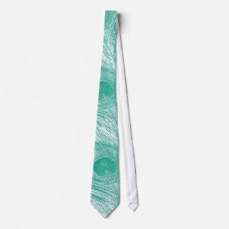 Emerald Green Peacock Design Tie