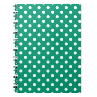 Emerald Green Polka Dot Pattern Notepad Notebooks