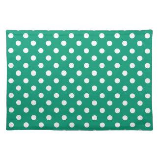 Emerald Green Polka Dot Place Mat