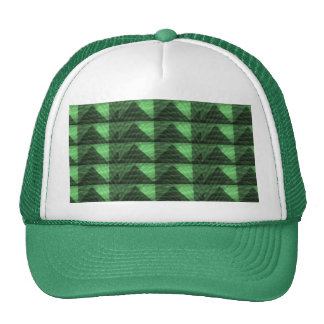 EMERALD Green PYRAMID Triangles Deco LOWPRICES Trucker Hat