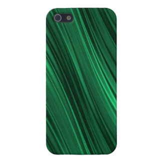 Emerald green shaded stripes iPhone 5/5S case