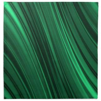 Emerald green shaded stripes napkin