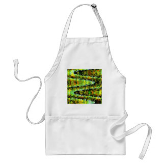 Emerald Green Show - Waves, Sparkle n Panorama Apron
