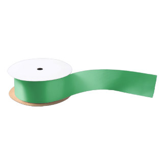 Emerald Green Solid Color Satin Ribbon