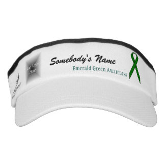 Emerald Green Standard Ribbon Template Visor