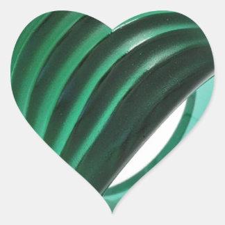 """""""Emerald Green"""" Heart Sticker"""