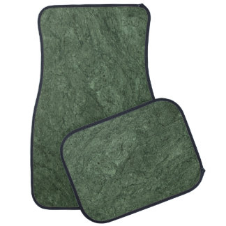 Emerald Green Stone Pattern Background Car Mat