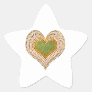 Emerald Green Sweet Hearts -   Kids Store Star Sticker