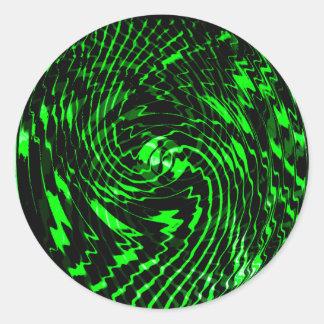 Emerald Green Swirl Classic Round Sticker