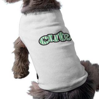 Emerald Green Vertical Stripes; Striped Sleeveless Dog Shirt