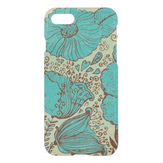Emerald-Green Vintage Flowers hand Illustration iPhone 7 Case